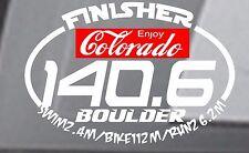 Any year BOULDER COLORADO Ironman Triathlon  Finisher Decal