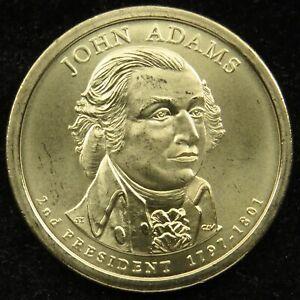 2007 P Satin Finish Uncirculated John Adams Presidential Dollar BU (C01)