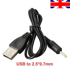 Charger Cable USB-A to 2.5mm Barrel Jack Male DC 5v Power Plug Adapter Black