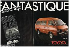 PUBLICITE ADVERTISING 095  1980  TOYOTA LITE ACE  utilitaire ( 2 pages)