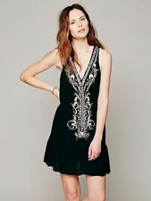 149241 NWT $138 Free People Crazy For Love Embroidered Embellished Tunic Dress S