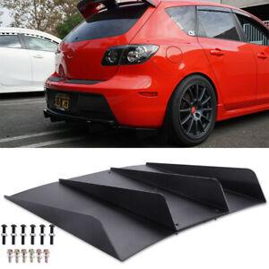 For Mazda 2 3 5 6 CX-3 CX5 CX-7 Rear Diffuser Bumper 4 Fins Spoiler Splitter Lip