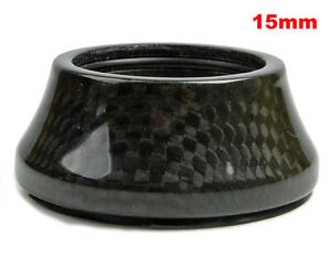 """1-1/8"""" OMNI Racer WORLDS LIGHTEST Integrated Headset Conical Carbon Spacer 15mm"""