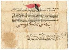 CERTIFICATO FILIPPO ACCIAIUOLI CARDINALE ANCONA 23/04/1765 qBB