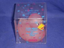 Vintage Disco Duck The Little Rubber Duck from Schylling c1990s 3in MIB Pink
