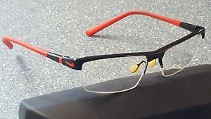 Nike Black Red Sport Modern Designer Glasses Frames