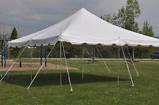 20 x 20 White Canopy Pole Tent Graduation PARTY PACKAGE w/Tables and Chairs