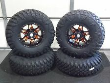 "SPORTSMAN XP 850/1000 28"" STREET LEGAL HD7 ORANGE ATV TIRE & WHEEL KIT   POL1CA"