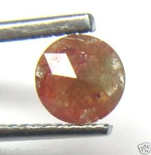 0.59Cts Rose Cut Diamond Beautiful Natural Real Peach Color Round  5.65x2.42MM