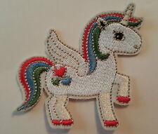 Cute Unicorn Pony Sew On  Transfer Iron on Patch
