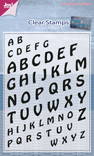 Joy Crafts Clear  Stamps MERY'S ALPHABET 6410/0368 Large & Small