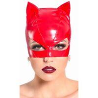 Patrice Catanzaro - Sweety - Masque petit chat pour catsuit en vinyle rouge