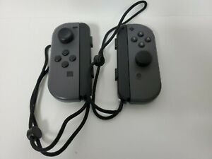 Nintendo Switch Joy-Con Controllers - Gray TESTED WITH STRAPS VERY GOOD