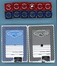 CAESARS ATLANTIC CITY LOT OF 12 USED CASINO DICE AND TROPICANA  2 DECKS OF CARDS