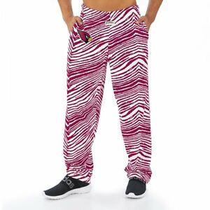 Zubaz NFL Men's Arizona Cardinals Classic Zebra Print Team Logo Pants