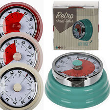 MAGNETIC KITCHEN TIMER 1 HOUR WIND UP TIMING COOKING AID COOK METAL OVEN FRIDGE