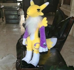 21''Anime Digital Monster Digimon Tamers Renamon Plush Toy Stuffed Cartoon Gifts