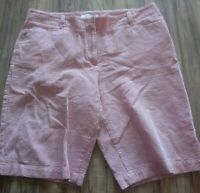 Talbots Striped Bermuda Shorts Size 10 Excellent Condition