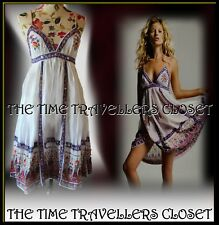 Kate Moss Topshop White Cotton Midi Indian Sundress 60s 70s Boho Festival UK 6 8