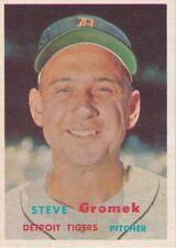 1957 Topps Baseball #258 Steve Gromek ~ 4th Series ~ Detroit Tigers ~ EXMT