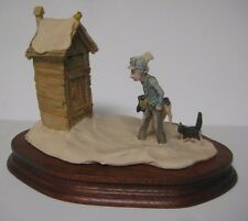 Lowell Davis NO PRIVATE TIME Figurine Schmid Fine Arts Man Outhouse #434 of 1250