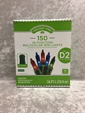 Holiday Time 150  16 Function Multi Color Mini Lights