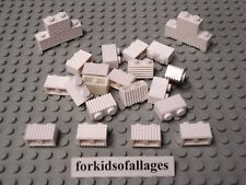 25 Lego 1x2 Bricks with Grill Profile White Castle House Wall Car Grille Parts