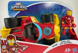 Marvel - Super Hero Adventures Iron Man Speedster - Action Figure & Vehicle