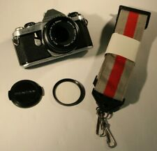 Gorgeous Pentax ME Super 35mm SLR Film Camera + Pentax 1:2 50mm Lens, Strap, Cap