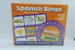 NEW  SPANISH BINGO ESPANOL AGES 4-6, 2-4 PLAYERS LER 9518