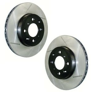 Pair Set of 2 Front Stoptech Sport Slotted Disc Brake Rotors for Chrysler Dodge