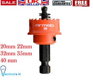 Armeg Sheet Steel Hole Saw Red 20mm 22mm 32mm 35mm 40mm Mild steel Impact Driver