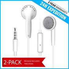 2IN1 IPHONE 4 IPAD IPOD EARPHONE HEAD BUDS PHONES PODS ECOUTEUR  - MICROPHONE