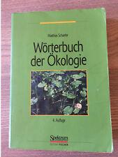 Wörterbuch der Ökologie, Schaefer, 4. Auflage (2003)