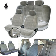 New Grey Velour Fabric Car Truck Seat Steering Covers Full Gift Set For Subaru