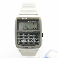 Casio Ca-506-1 1980s Calculator Watch Stainless Steel Band Silver