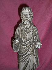 STATUE RELIGIEUSE: JESUS / PLÂTRE PATINE PAR LE TEMPS / MEDIEVAL /XIXé/ HT 49 cm
