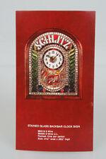 Original Schlitz Beer Stained Glass Clock Sign Dealer Advertising Card Old Stock