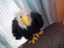 REALISTIC NATIONAL BIRD USA PLUSH DOLL FIGURE MAJESTIC AMERICAN BALD EAGLE TOY