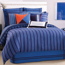 Nautica RIVERBEND TWIN 4pc Comforter Set Sham Skirt Blue Stripes NEW RARE