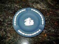 Wedgwood Jasperware Portland Blue Cupid 3 Slot Ashtray