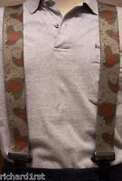"Suspenders 2""x48"" FULLY Elastic Camouflage Desert Storm NEW"