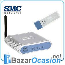 Broadband Router 54Mbps Wireless 802.11g SMC SMCWBR14-G2 + USB Wifi
