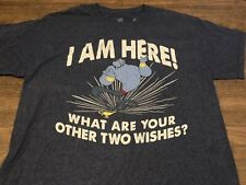 Disney Parks Aladdin Genie I Am Here Medium Blue T Shirt