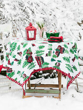 April Cornell Christmas Village Crochet Tablecloth NWT