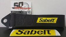 SABELT GANCIO TRAINO RACING TUNING STOFFA NASTRO RENAULT CLIO RS TOW STRAP NERO