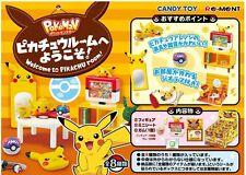 REMENT Pokemon Welcome to Pikachu Room 8Pcs Full Set Miniature Decoration Figure