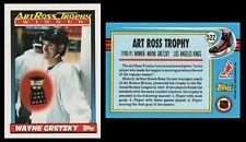 WAYNE GRETZKY ART ROSS TROPHY WINNER - 1991 TOPPS # 522 - HALL OF FAME - MINT!