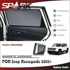CT MAGNETIC CAR WINDOW SUN SHADE BLIND MESH REAR DOOR FOR Jeep Renegade 2015+