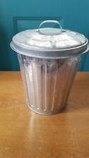 Small Metal Trash Can with Lid
